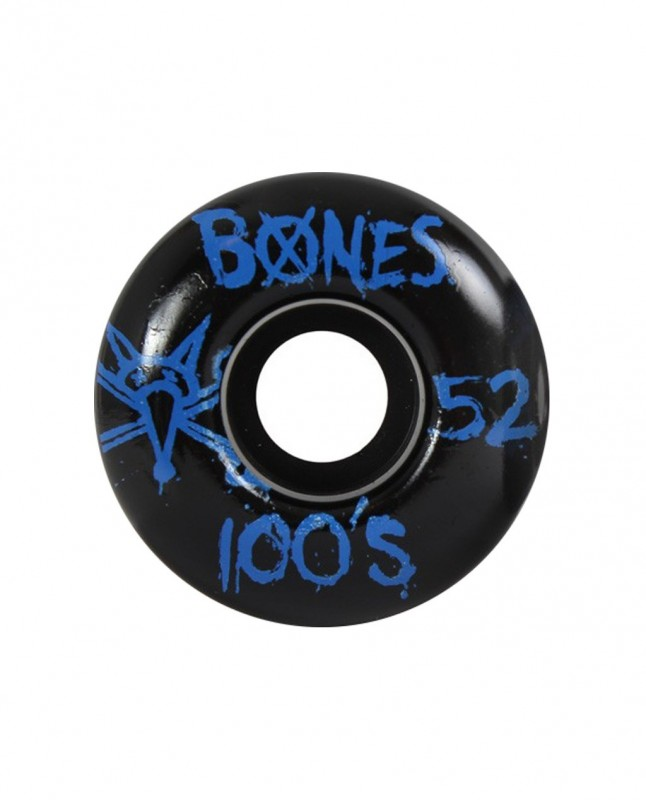 BONES WHEELS 100'S BLACK 52MM 100A