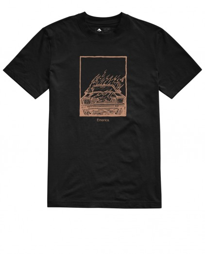 EMERICA BURNER BLACK TEE