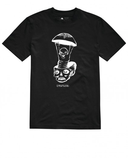 EMERICA FACES BLACK TEE
