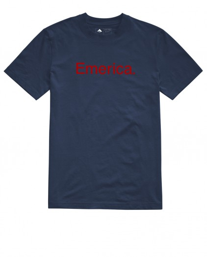 EMERICA PEACE BLACK TEE
