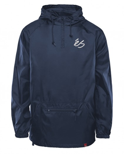 éS PACKABLE ANORAK NAVY