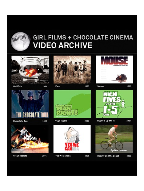 GIRL FILMS AND CHOCOLATE CINEMA VIDEO ARCHIVES